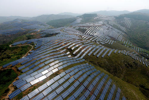Solar Power Farms In China